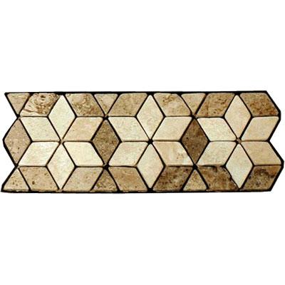 Stone Collection Mexican Travertine Decorative Borders Star Noce Tile & Stone