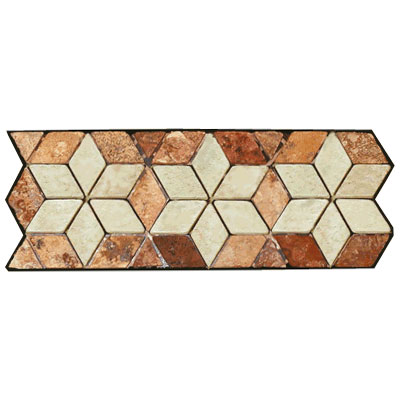 Stone Collection Mexican Travertine Decorative Borders Star Rust Tile & Stone
