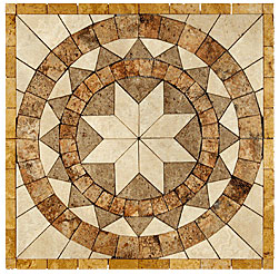 Stone Collection Mexican Travertine Medallions Marques Tile & Stone