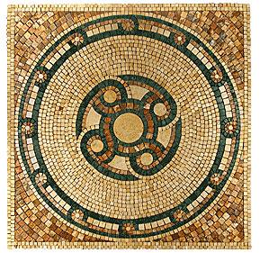 Stone Collection Mexican Travertine Medallions Palacio Tile & Stone