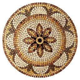 Stone Collection Mexican Travertine Medallions Robbio Tile & Stone