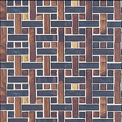 Interceramic Interglass - 12 x 12 Mosaics Marrone Weaves Tile & Stone