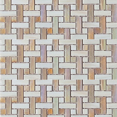 Interceramic Interglass - 12 x 12 Mosaics Ocre Weaves Tile & Stone