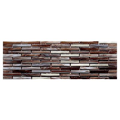 Interceramic Interglass - 4 x 12 Mosaics Retangular Marron Mosaic Tile & Stone