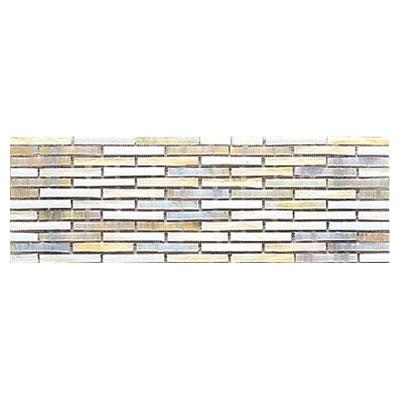 Interceramic Interglass - 4 x 12 Mosaics Retangular Ocre Mosaic Tile & Stone