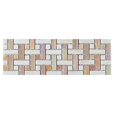Interceramic Interglass - 4 x 12 Mosaics Weaves Ocre Mosaic Tile & Stone