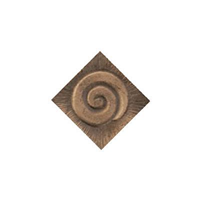 Interceramic Jewelstones Metal Insert A 1 x 1 Bronze Metal Insert A Tile & Stone