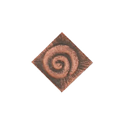 Interceramic Jewelstones Metal Insert A 1 x 1 Copper Metal Insert A Tile & Stone