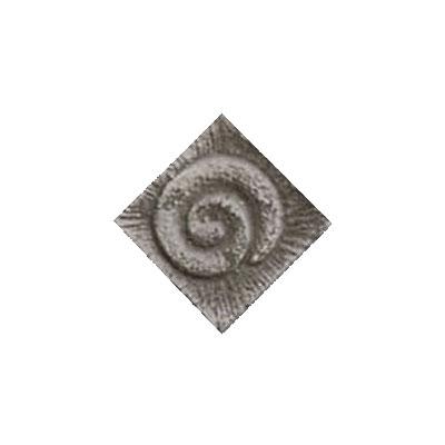 Interceramic Jewelstones Metal Insert A 1 x 1 Pewter Metal Insert A Tile & Stone