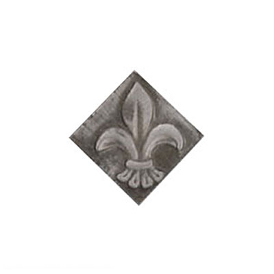 Interceramic Jewelstones Metal Insert C 1 x 1 Pewter Metal Insert C Tile & Stone