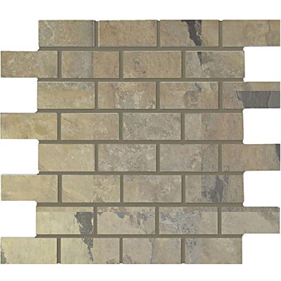 Interceramic Rustic Lodge Bricklay Mosaic 12 x 12 Golden Dawn Tile & Stone