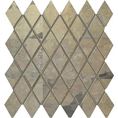 Interceramic Rustic Lodge Harlequin Mosaic 12 x 11 Golden Dawn Tile & Stone