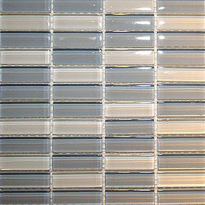 Maestro Mosaics Crystal Glass Blends Mosaic White-Blue Gray-Light Blue Gray Tile & Stone