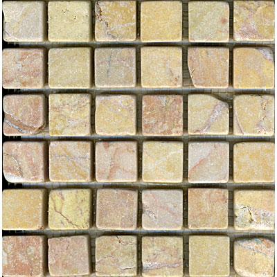 Maestro Mosaics Marble 1 x1 Mosaic Tumbled Amber Rouge Tile & Stone