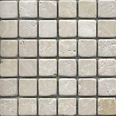 Maestro Mosaics Marble 1 x1 Mosaic Tumbled Crema Light Tile & Stone
