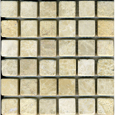 Maestro Mosaics Marble 1 x1 Mosaic Tumbled Plato Golden Tile & Stone