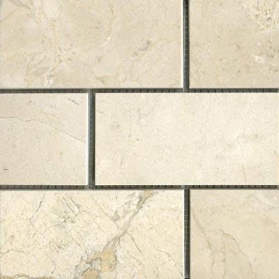 Maestro Mosaics Marble 3 x 6 Honed Crema Marfil Tile & Stone