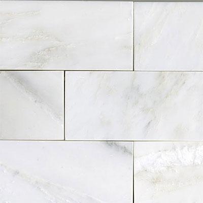 Maestro Mosaics Marble 3 x 6 Polished White Statuary Tile & Stone