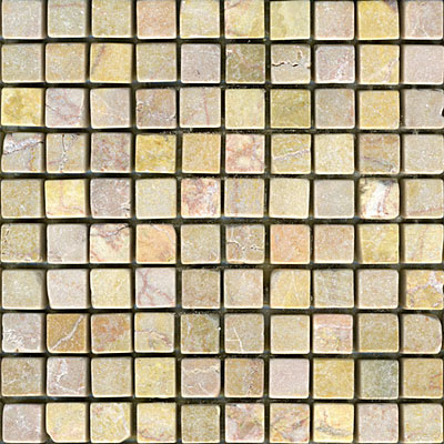 Maestro Mosaics Marble 5/8 x 5/8 Mosaic Tumbled Amber Rouge Tile & Stone