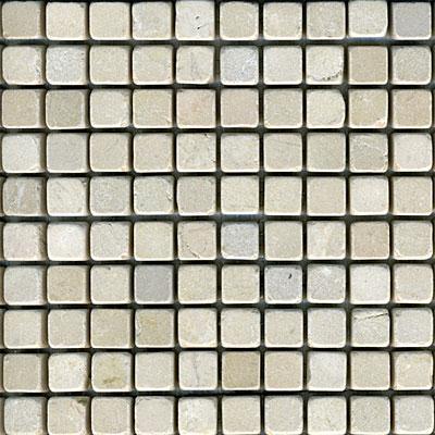 Maestro Mosaics Marble 5/8 x 5/8 Mosaic Tumbled Crema Light Tile & Stone