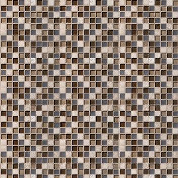 Mannington Accent Gallery Glass & Stone Blends 1 x 1 Mosaic Java Blend (Sample) Tile & Stone