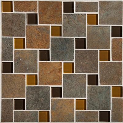 Mannington Antiquity Mosaic Pinwheel 10 x 10 Iron Gate (Sample)