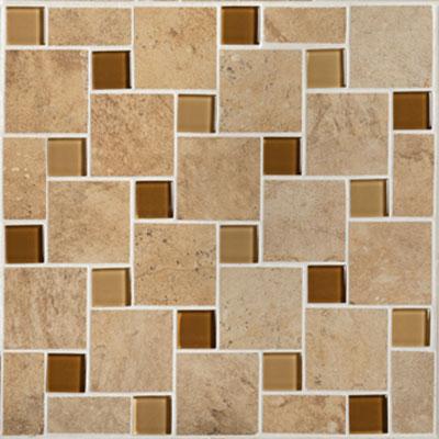 Mannington Antiquity Mosaic Pinwheel 10 x 10 Parchment