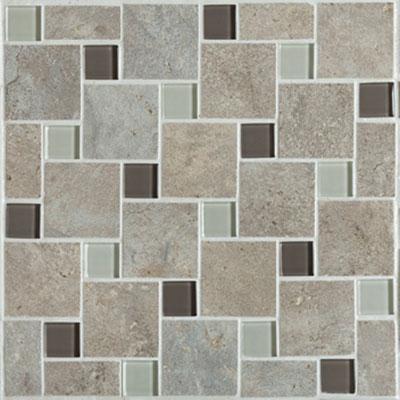 Mannington Antiquity Mosaic Pinwheel 10 x 10 Weathered-Stone