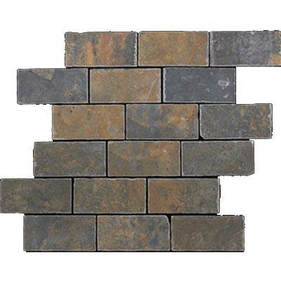 Mannington Antiquity Tumbled Mosaic Iron Gate (Sample) Tile & Stone