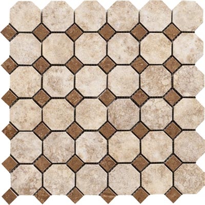 Marazzi Campione Octagon Mosaic 2 x 2 Armstrong Tile & Stone