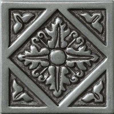 Marazzi Romance Collection Diamond Insert 4 x 4 Nickel Tile & Stone