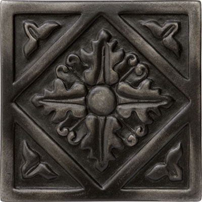 Marazzi Romance Collection Diamond Insert 1 x 1 Wrought Iron Tile & Stone