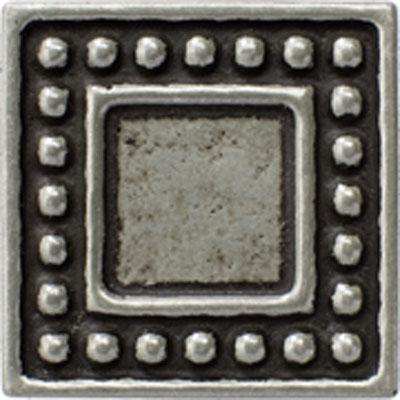 Marazzi Romance Collection Dot Insert 2 x 2 Nickel Tile & Stone