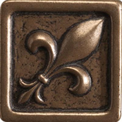 Marazzi Romance Collection Fleur de lis Insert 1 x 1 Bronze Tile & Stone