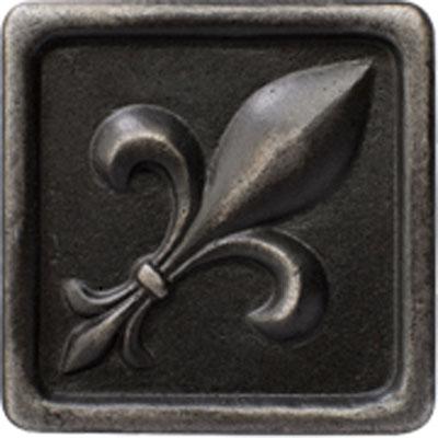 Marazzi Romance Collection Fleur de Lis Insert 2 x 2 Wrought Iron Tile & Stone