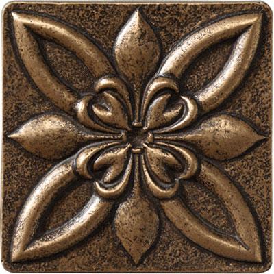 Marazzi Romance Collection Floral Corner 4 x 4 Bronze Tile & Stone