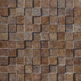 Marca Corona Re-Action Mosaic Brown 3957 Tile & Stone