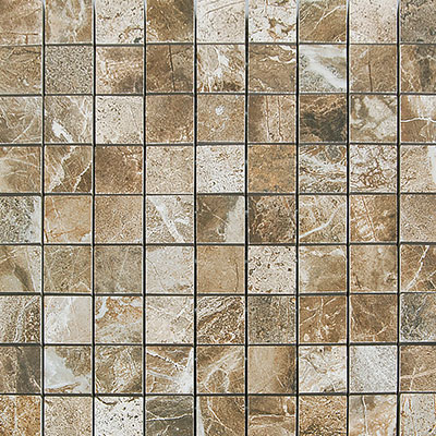 Megatrade Corp. Thrill Polished Mosacio Walnut Tile & Stone