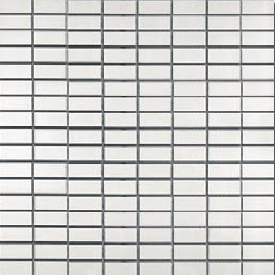 Metal Border Pure Metal Brick Mosaic 1 x 2 Satin Tile & Stone