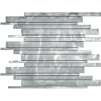 Metal Border Pure Metal Kea Mosaic Graffiato/Brushed Tile & Stone