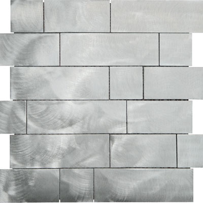 Metal Border Pure Metal Kios Mosaic Graffiato/Brushed Tile & Stone