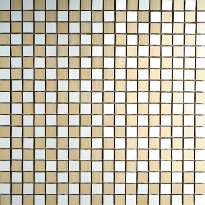 Metal Border Pure Metal Mosaic .5 x .5 Scacchi Crema Tile & Stone