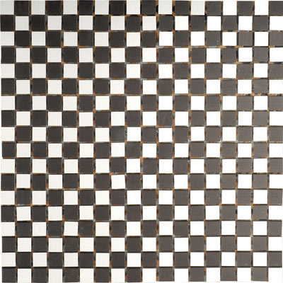 Metal Border Pure Metal Mosaic .5 x .5 Scacchi Nero Tile & Stone