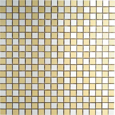 Metal Border Pure Metal Mosaic .5 x .5 Scacchi Oro Tile & Stone