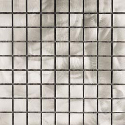 Metal Border Pure Metal Mosaic 1 x 1 Graffiato/Brushed Tile & Stone