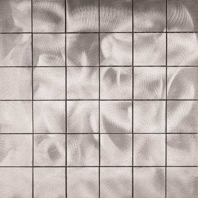 Metal Border Pure Metal Mosaic 2 x 2 Graffiato/Brushed Tile & Stone