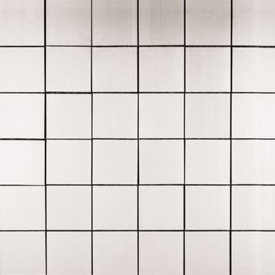Metal Border Pure Metal Mosaic 2 x 2 Satin Tile & Stone