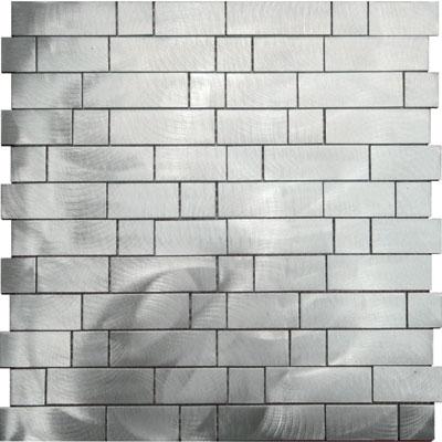 Metal Border Pure Metal Naxos Mosaic Graffiato/Brushed Tile & Stone