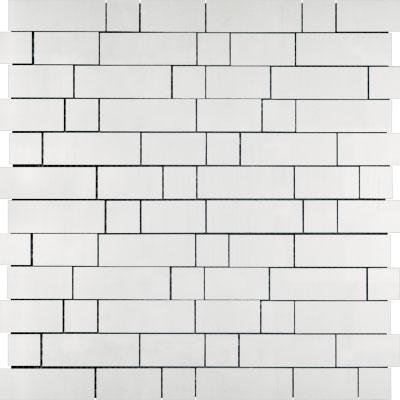 Metal Border Pure Metal Naxos Mosaic Satin Tile & Stone