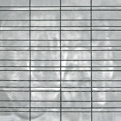 Metal Border Pure Metal Paros Mosaic Graffiato/Brushed Tile & Stone